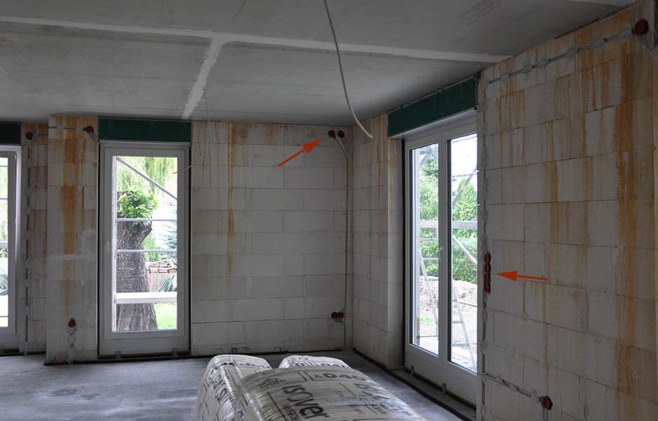 Und Hier Noch Die Wohnzimmeransicht, Bei Welchem Wir, Ebenso Wie In Der  Küche, Den TV Anschluss In Ca. 1.50 M Höhe Vorgesehen Haben (wieder Incl.
